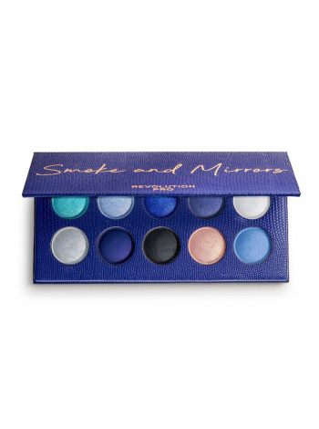 Revolution PRO Палетка теней Smoke And Mirrors Colour Focus Eyeshadow Palette